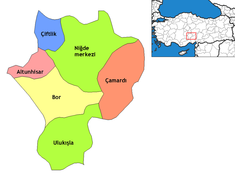 Niğde districts
