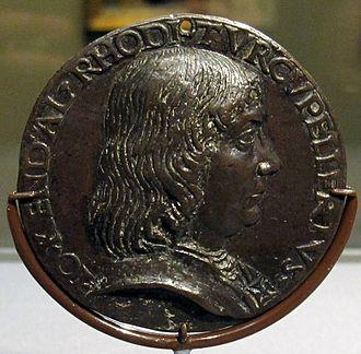 John Kendal - Niccolò di Forzore Spinelli, medal of John Kendal, 1480 ca.