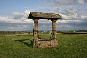 Niddatal - A reconstructed Roman fountain near Niddatal-Kaichen.