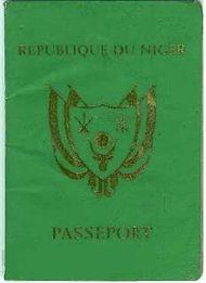 The front cover of a contemporary Nigerien passport.