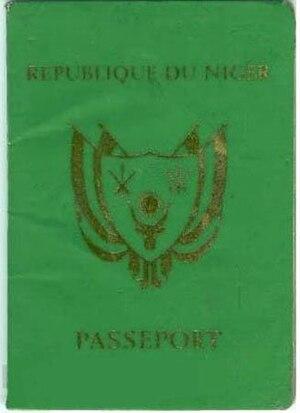 Nigerien passport - The front cover of a contemporary Nigerien passport.