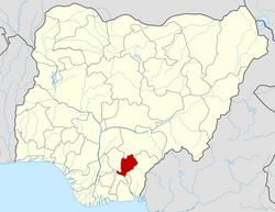 Location of Ebonyi State in Nigeria