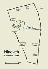 City plan of Nineveh