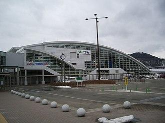 Ninohe Station - Ninohe Station west entrance in July 2011