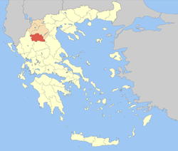 Grevena within Greece