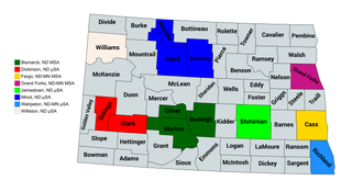 North Dakota statistical areas