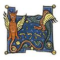 North French Hebrew Miscellany dragons.jpg