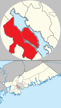 Map of the boundaries of the former City of Halifax, and its relationship to the rest of the Halifax Regional Municipality