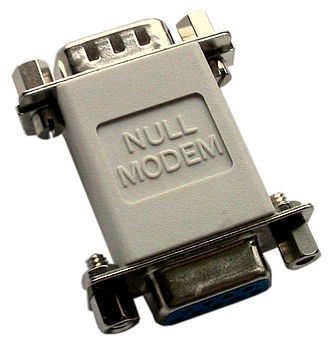 Null modem - A null modem adapter