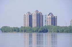 Skyline of the southern tip of Nuns' Island