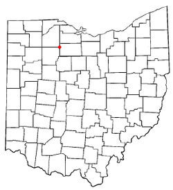 Location of Fostoria, Ohio