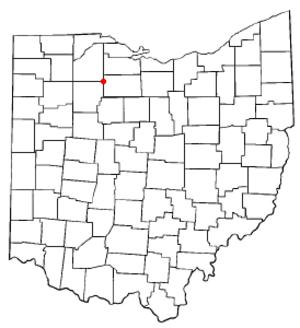 Fostoria, Ohio - Image: OH Map doton Fostoria