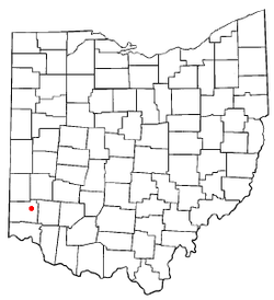 Location of Trenton, Ohio