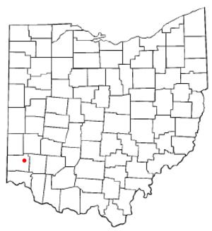 Trenton, Ohio - Image: OH Map doton Trenton