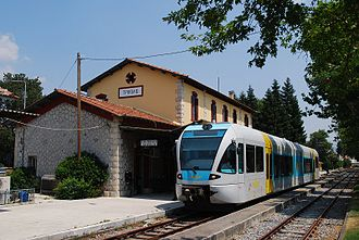 Tripoli, Greece - Tripoli's railway station.