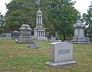 English: Oak Hill Cemetery Pontiac MI
