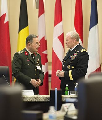 2016 Turkish coup d'état attempt - General Erdal Öztürk (left), shown here with U.S. Army Gen. Martin E. Dempsey, right, the chairman of the Joint Chiefs of Staff, has been arrested over alleged involvement in a coup attempt.