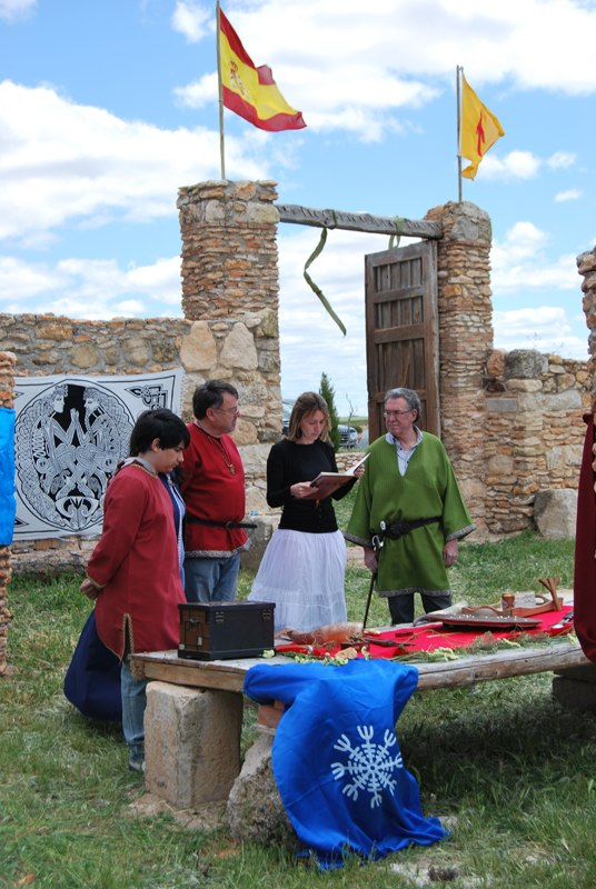 Odinist wedding at the community's Temple of Gaut in Albacete