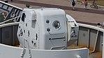 Oerlikon 35mm cannon mounted on JCG Settsu(PLH-07) left rear top view at Port of Kobe July 22, 2017 01.jpg