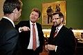 Oeystein Djupedal, kunskapsminister Norge och Helge Sander, forskningsminister Danmark, under Nordiska radets session i Kopenhamn 2006.jpg