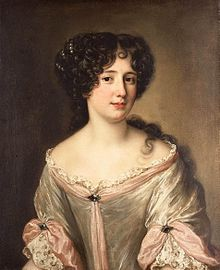 Description de l'image Oil on panel portrait of Marie Mancini, Princess Colonna.jpg.