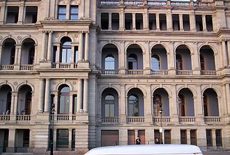 William Street, Brisbane - William Street face of the former Treasury Building.