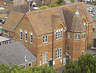 Lutterworth - The Victorian building that housed Sherrier Primary School until 1983.