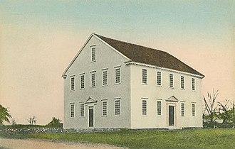 Sandown, New Hampshire - The Old Meeting House in 1908