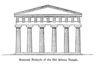 Old Temple of Athena - Old Temple of Athena (restored).
