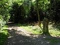 Old gatepost in Melton Woods. - geograph.org.uk - 534145.jpg