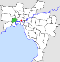 Location of the City of Footscray within w:Mel...