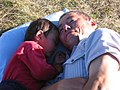 Old man with his granddaughter.jpg