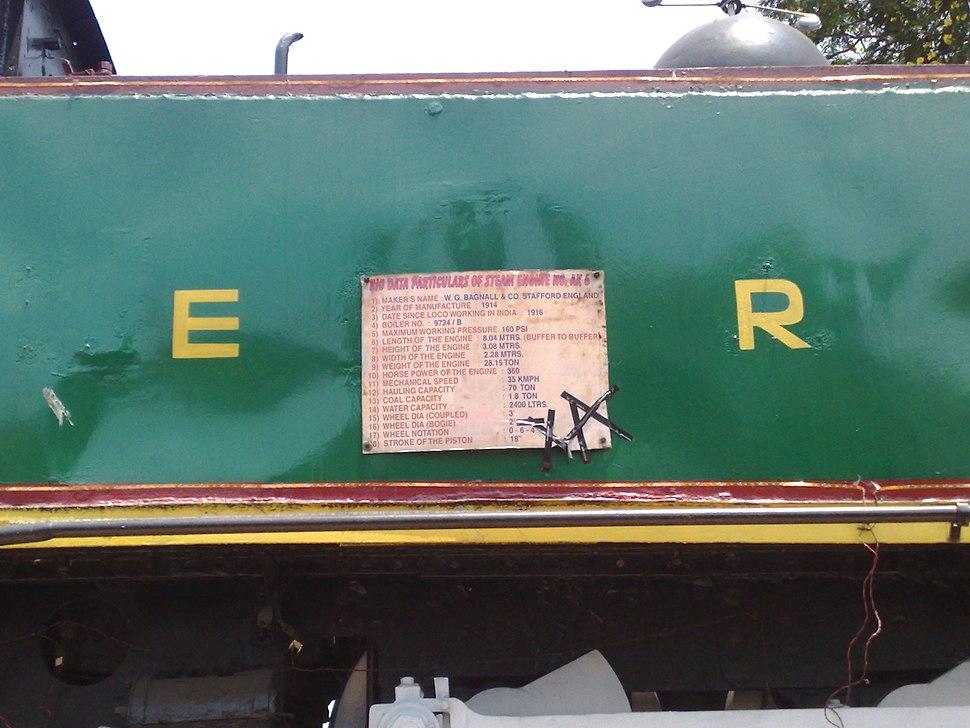 Old steam loco details