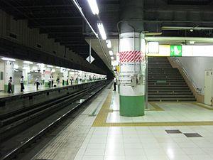 Ōmiya Station (Saitama) - The underground Saikyo/Kawagoe Line platforms in August 2014