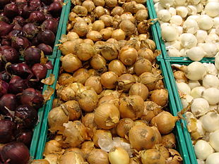 Tre differenti varietà di cipolle