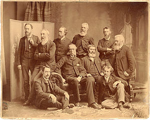 Hamilton MacCarthy - Ontario Society of Artists Members (1889) - MacCarthy (back row, second from right)