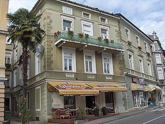 Leo Sternbach - Villa Adriatic where Leo Sternbach spent his childhood in Opatija, Croatia