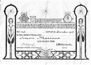 Order of the Star in the East - Image: Orde van de ster in het oosten