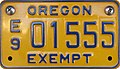 Oregon Government Exempt License Plate - Motorcycle.jpg