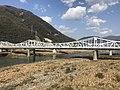 Otagawa River and Otagawabashi Bridge from train of Kabe Line.jpg