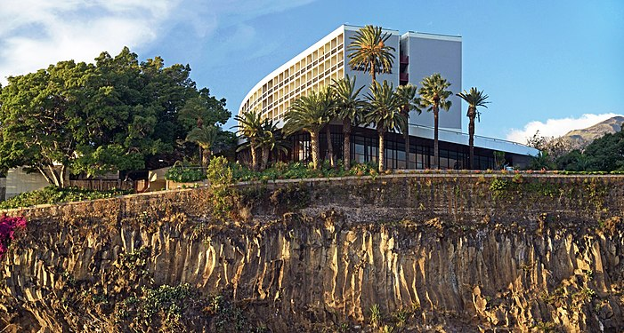 Outlets of volcanic basalts in Funchal. Madeira, Portugal.jpg