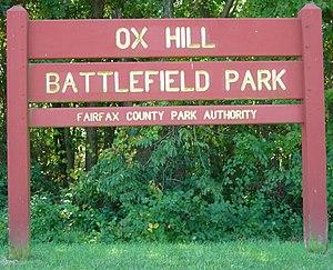 Ox Hill Battlefield Park - Image: Ox Hill Battlefield Park Sign