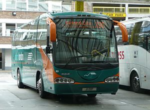 Oxford to London coach route - Oxford Bus Company X90 coach at Victoria Coach Station, the former terminus of the route