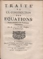 Ozanam - Traité de la construction des equations pour la solution des problemes indeterminez, 1687 - 4625539.tif