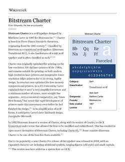 PDF screenshot of charter typeface.pdf