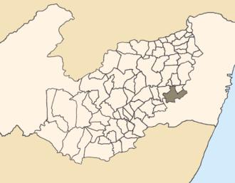 Bonito, Pernambuco - Location of Bonito within Pernambuco