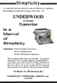 PSM V75 D639 Underwood typewriters 1909.png