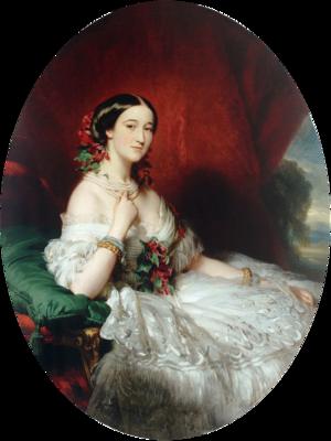 María Francisca de Sales Portocarrero y Kirkpatrick, 12th Duchess of Peñaranda del Duero - Paca, Duchess of Alba (portrait by Franz Xaver Winterhalter, 1854)
