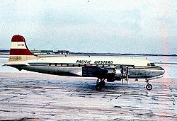 A Pacific Western Airlines DC–4-ese 1959-ben