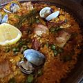 Paella de Carne - pork belly, chorizo picante, Manila clams, rosemary (14490472831).jpg